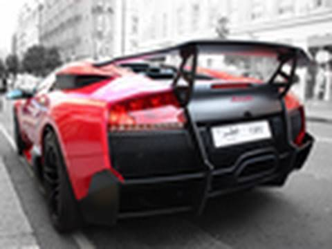 Red Lamborghini Murcielago LP670-4 SuperVeloce w/ Tubi Exhaust