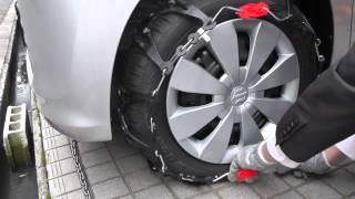 とても簡単!樹脂製タイヤチェーンを装着!