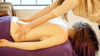 getlinkyoutube.com-Best Relaxation Back Massage Techniques. How To Give A Relaxing Back Rub, ASMR Christen Renee