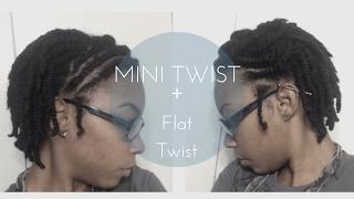 Mini Twist on Short Natural Hair for Length Retention