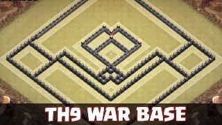 getlinkyoutube.com-Clash of Clans - TH9 War Base - Anti-GoWipe w/ Air Sweeper!