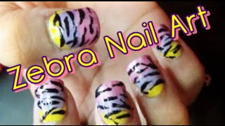 getlinkyoutube.com-Easy Beginner Zebra Print Nail Art Tutorial