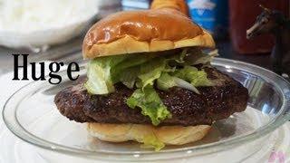 getlinkyoutube.com-勘だけでアメリカサイズのビッグハンバーガーを自作する|Huge Hamburger