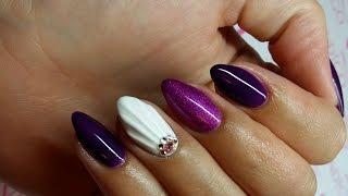 getlinkyoutube.com-Shell nail art Efekt muszelki tutorial