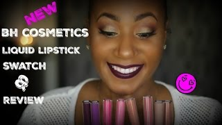 getlinkyoutube.com-New BH Cosmetics Liquid Lipstick Swatch and Review