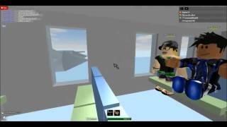 Roblox FD5 Ending Plane Crash Scene