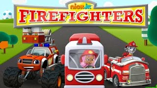 getlinkyoutube.com-Nick Jr Firefighters - Paw Patrol Bubble Guppies Blaze and The Monster Machines