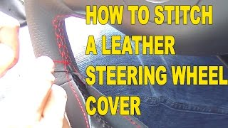 getlinkyoutube.com-How to Stitch a Race Leather Steering Wheel Cover