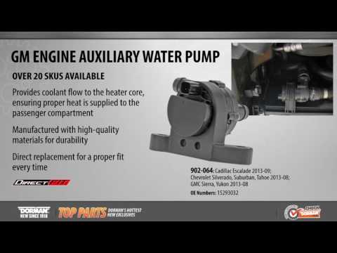 Highlighted Part: Engine Auxiliary Water Pump for Select Cadillac, Chevy & GMC Models