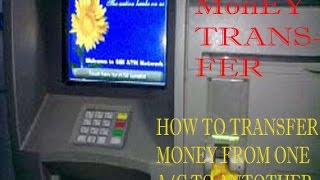 Transfer Money From One A/C to Another With ATM and ATM Machine Of SBI in HIndi/Urdu width=