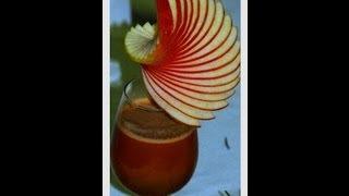 getlinkyoutube.com-Décorer un verre avec une ellipse en pomme