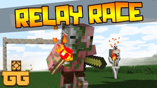 getlinkyoutube.com-Monster School - RELAY RACE [Minecraft Animation]