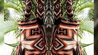 getlinkyoutube.com-Técnica de fio conduzido - Bolsa Wayuu