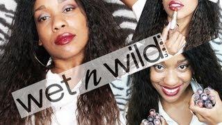 getlinkyoutube.com-Wet N' Wild Lipstick Haul w/ Swatches | $1... $2 Lipsticks!!!