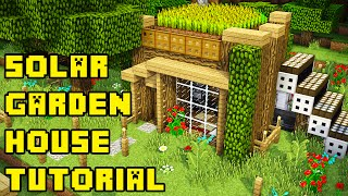 getlinkyoutube.com-Minecraft: Simple Garden Roof House/Base Tutorial Xbox/PC/PE/PS3/PS4