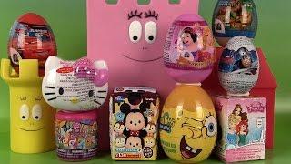 getlinkyoutube.com-Œufs surprises Tsum Tsum Princesses Disney Bob l'éponge Disney Cars