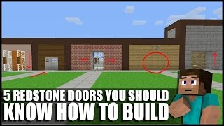 getlinkyoutube.com-5 Redstone Doors You Should Know How To Build In Minecraft!