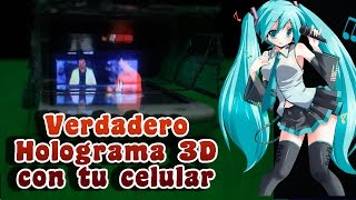 getlinkyoutube.com-Como hacer un verdadero holograma en 3D con tu celular│ i3DG │ Hatsune Miku
