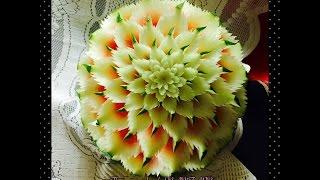getlinkyoutube.com-Basic design in watermelon for beginners(A2) by chef NAMTARN