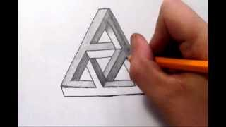 getlinkyoutube.com-How To Draw a Complex Impossible Triangle