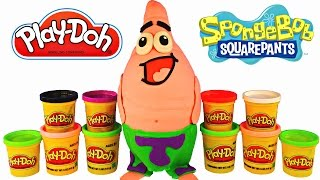 getlinkyoutube.com-Giant Spongebob Out Of Water Surprise Egg Play Doh Patrick LEGO Hello Kitty Cars MLP Happy Meal