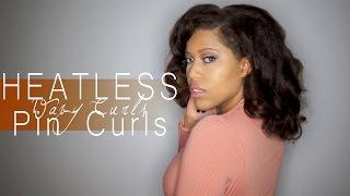 getlinkyoutube.com-Pin Curls | Quick & Easy Heatless Wavy Curls on Natural Hair
