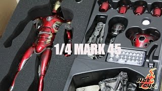 getlinkyoutube.com-[UNBOXING]  Avengers: AOU 1/4th scale Mark XLV Collectible Figure By Hot Toys