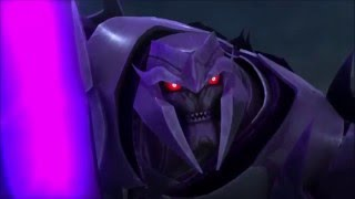 getlinkyoutube.com-Transformers: Prime: All Optimus Prime vs Megatron Battles