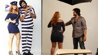 getlinkyoutube.com-Nikesha Patel Romantic Photoshoot With Sairam Shankar   Araku Road Lo  Movie
