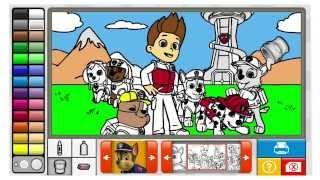 getlinkyoutube.com-juego de colorear a la patrulla canina en español