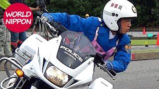 getlinkyoutube.com-第47回全国白バイ安全運転競技大会2016 女性警察官の部 @華麗なるダイナミック・ターンの妙技! POLICE MOTORCYCLE OF JAPAN