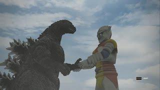 Godzilla PS4: Godzilla Vs All Kaiju + TimeTag(All Creatures) 1080p