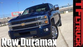 getlinkyoutube.com-New 2017 Chevy Silverado Heavy Duty Duramax 0-60 MPH Towing Review