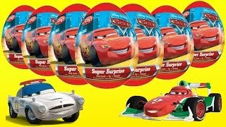 getlinkyoutube.com-Surprise Eggs, Kinder Surprise Cars 2, Disney Pixar