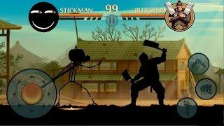getlinkyoutube.com-Shadow Fight 2 — StickMan VS Butcher