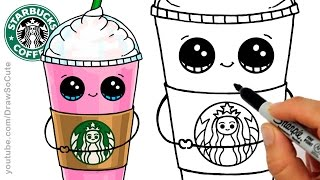 getlinkyoutube.com-How to Draw a Starbucks Frappuccino Cute step by step Cartoon Drink