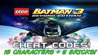 getlinkyoutube.com-Lego Batman 3: Beyond Gothem CHEAT CODES!!  18 Characters + 5 Red bricks
