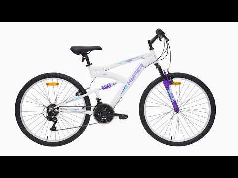 Hyper Bikes 66cm Dual Suspension Bike - White