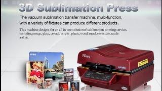 getlinkyoutube.com-3D Vacuum Sublimation Heat Press Transfer Printing Machine (ST-3042)