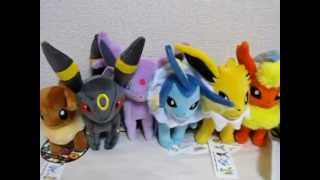 Japan Pokemon Center Eevee Jolteon Flareon Espeon Umbreon Leafeon Glaceon Vaporeon Plush Toy