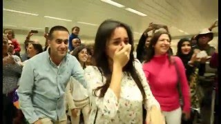 getlinkyoutube.com-Bruno Mars Marry You Flash Mob Proposal Jacob and Eliane - Beirut Rafic Hariri International Airport