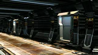 getlinkyoutube.com-Spaceship SCI-FI Coridor - different Views - green screen effects