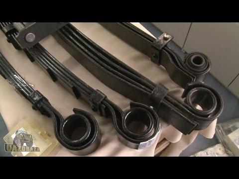 Где в УАЗ 3153 задние амортизаторы