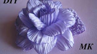 getlinkyoutube.com-Роза с гофрированными лепестками МК.DIY
