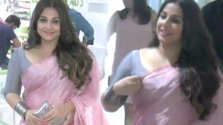 Vidya Balan Hot In Pink Saree & Tight Blouse