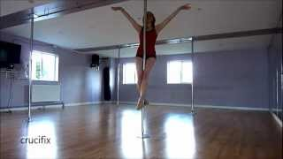 getlinkyoutube.com-Beginner pole fitness moves.wmv