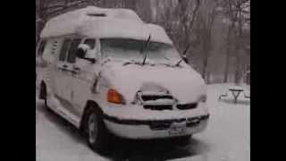 getlinkyoutube.com-RV Life - Winter RV Camping - Waking Up to Snow & Cold