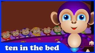 Ten In The Bed - Popular Nursery Rhymes For Children I Kidipedes I Children Songs