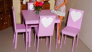 How to make a chair for doll (Monster High, EAH, Barbie, etc)