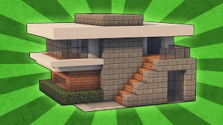 getlinkyoutube.com-Minecraft: How To Build A Small Modern House Tutorial (#4)